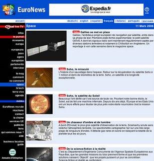 Vidéos sur EuroNews