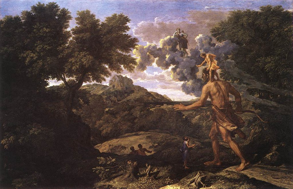 Nicolas Poussin &quot;Orion cherchant le Soleil&quot;
